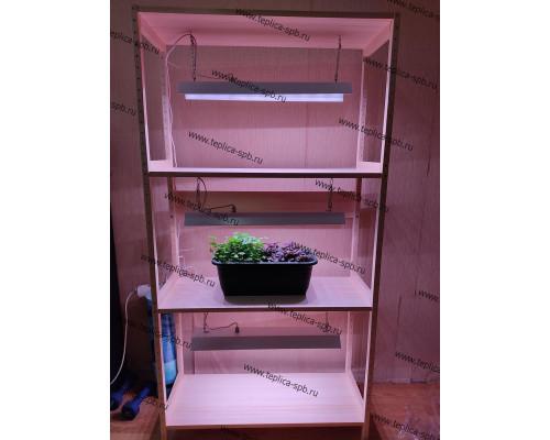 Стеллаж для растений со светодиодной подсветкой, ФС-800х300
