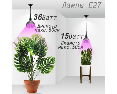 Как выбрать фитолампы для растений с цоколем Е27.