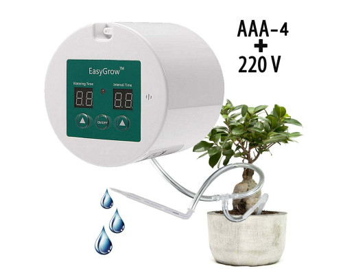 """Автополив """"Easy Grow_2"""" для 15 комнатных растений (с блоком питания)."""