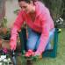 Скамейка-перевертыш садовая Helex с органайзером, зеленый/желтый купить в СПб