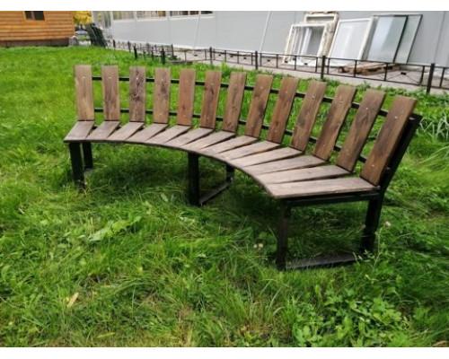 """Садовая скамейка """"Радиаль"""", наклонная спинка"""