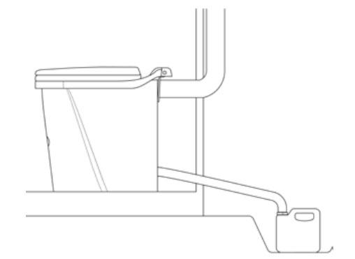 Схема работы биотуалета Biolan.