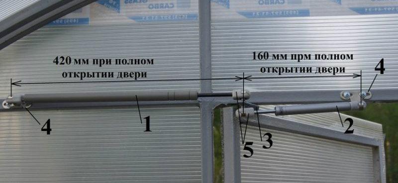 Установка термопривода для теплица Синьор Помидор